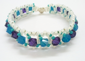 Classic Crystal Bracelet Beadwork Jewellery Making Kit with SWAROVSKI® ELEMENTS crystal beads Purple and Blue tones